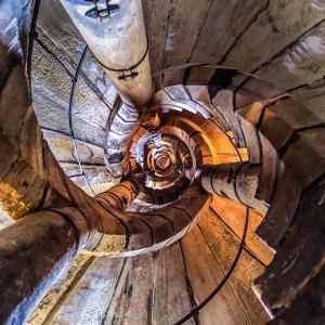 Schody ve věži v Olomouci