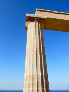 GREEK COLUMN LINDOS